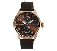 Peugeot Mens Stainless Steel Aviator Nylon Band Watch - J383915