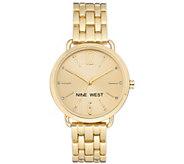 Nine West Womens Goldtone Bracelet Watch - J384315