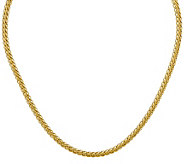 14K Gold 24 4.65mm Oval Wheat Chain, 11.1g - J385015