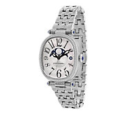 Judith Ripka Stainless Steel White Moon Phase Watch - J385515