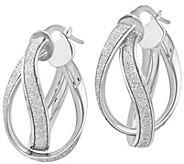 Italian Gold Glitter-Infused Double Twisted Earrings, 14K Gold - J385615
