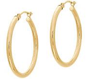 EternaGold 1 Polished Round Hoop Earrings, 14KGold - J386215