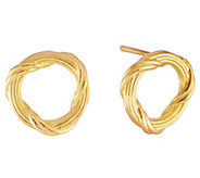 Peter Thomas Roth 18K Gold Ribbon & Reed CircleStud Earrings - J386515