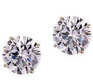 Diamonique 3.00 ct tw 100-Facet Stud Earrings,14K Gold - J110216