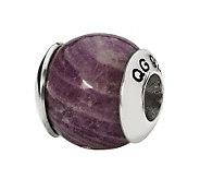 Prerogatives Sterling Charoite Gemstone Bead - J298216