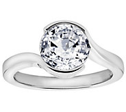 Diamonique 2.40 cttw Ring, Platinum Clad - J309716
