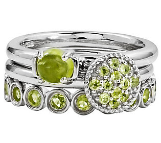 Simply Stacks Sterling Peridot Ring Set