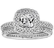 Diamonique 2.50 cttw 2 pc. Bridal Ring Set, Platinum Clad - J310816