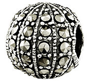 Prerogatives Sterling Marcasite Textured Bead - J310916