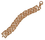 Bronzo Italia 8 Textured Interlocking Links Bracelet - J313716