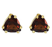 Trillion-Cut Gemstone Stud Earrings, 14K Gold - J314016