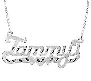 Sterling Diamond-Cut Personalized Name Necklace - J315216
