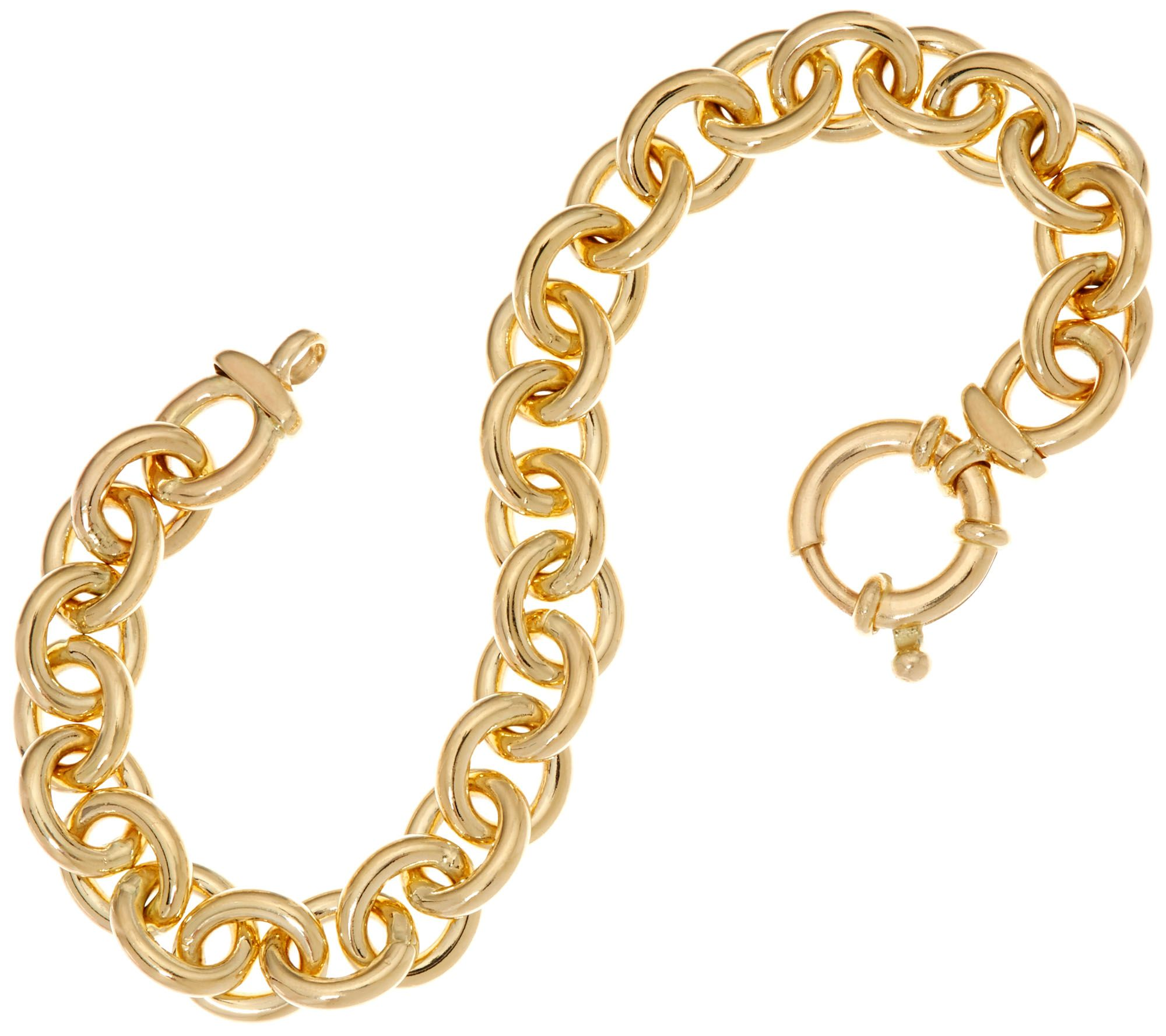 Italian Gold 7 1 4 Solid Rolo Link Bracelet 14k 30 0g Page Qvc