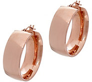 Italian Gold Polished Wedding Band 1 Hoop Earrings, 14K - J348716