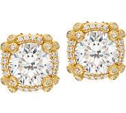 Judith Ripka 14K Clad 4.60 cttw Diamonique Stud Earrings - J352416