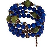 Connemara Marble Coil Rosary Bracelet - J352516