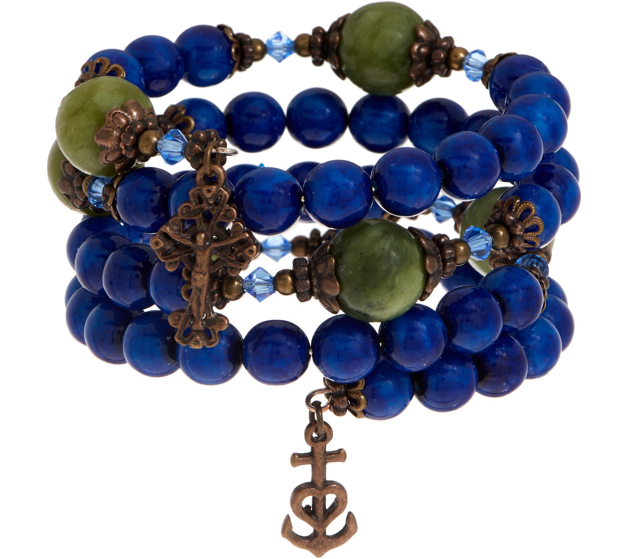 Connemara Marble Coil Rosary Bracelet Page 1 Qvc Com