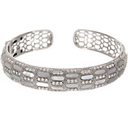 Judith Ripka Sterling Silver Cultured Pearl & Diamonique Cuff - J357016