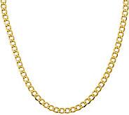 14K 24 Curb Link Necklace, 15.5g - J378416