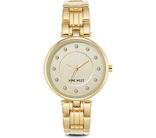 Nine West Ladies Goldtone Embermae Bracelet Watch