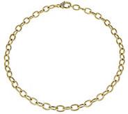 Judith Ripka Verona 14K Clad 16 Rolo Link Necklace, 12.5g - J381416