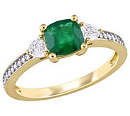 14K 1.15 cttw Emerald & White Sapphire DiamondAccent Ring - J392116