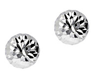 UltraFine Silver 10mm Round Diamond-Cut Bead Earrings - J392216