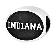 Sterling Silver Indiana University Bead - J300717