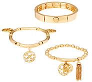 C. Wonder Set of 3 Stretch Charm Bracelets - J329517