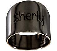 Bronze Personalized Graduated Band Ring byBronzo Italia - J339317