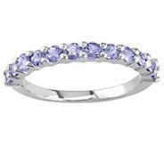 Sterling Silver 0.80 ct Tanzanite Band Ring - J342317