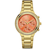 Caravelle New York Chronograph Colored Dial Womens Watch - J343117