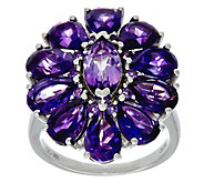 Multi-Cut Gemstone Sterling Silver Bold Ring 6.00 cttw - J346917