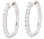 Diamond Elongated Hoop Earrings, 14K, 1.50 cttw, by Affinity - J354017