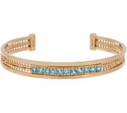 Imperial Gold & Gemstone Large Cuff Bracelet, 14K Gold - J356017
