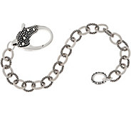 Michael Dawkins Sterling Silver Signature Chain Bracelet, 16.3g - J358917