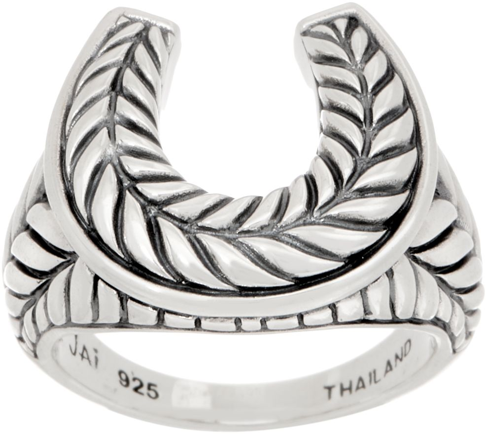 JAI Sterling Silver Horseshoe Ring