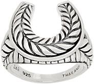 JAI Sterling Silver Horseshoe Ring - J359617