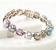 Stephen Dweck Sterling Rainbow Gemstone Bracelet - J360517