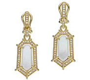 Judith Ripka 14K Clad Mother of Pearl & Diamonique Earrings - J384217