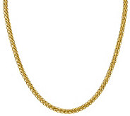 14K Gold 22 5.45mm Oval Wheat Chain, 14.3g - J385017