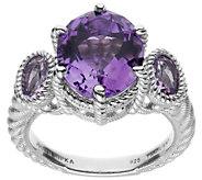 Judith Ripka Sterling Silver Amethyst Ring - J385417