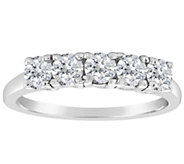 Affinity 3/4 cttw 5-Stone Diamond Band Ring, 14K Gold - J387317