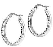 Steel by Design 1 Inside Out Hoop Earrings - J388317