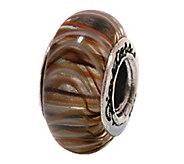 Prerogatives Sterling Brown Glass Bead - J108818