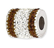 Prerogatives Sterling Smoky Brown Crystal Barrel Bead - J113218