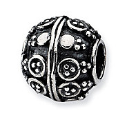Prerogatives Sterling Unique Design Artisan Bead - J113318
