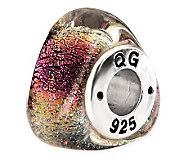 Prerogatives Sterling Rainbow Dichroic Glass Triangle Bead - J113418