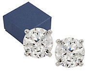 Diamonique 100-Facet 2.00 cttw Stud Earrings, Platinum Clad - J263818