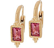 Judith Ripka 14K Gold 0.95 cttw Pink Tourmaline Earrings - J349018